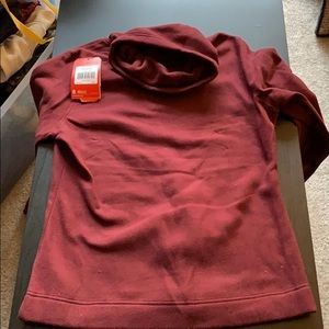 North face fleece pullover with cowl neck sz LG